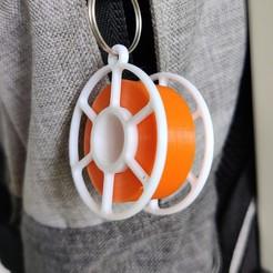 main thumbnail.jpg Télécharger fichier STL gratuit Porte-clés des bobines de filament ! • Objet pour imprimante 3D, boltythedoge