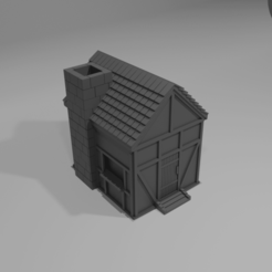 house.png Download STL file Medieval House with Chimney • 3D print model, boltythedoge