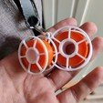 Download free STL file Filament Spools Keychain! • 3D print design, boltythedoge
