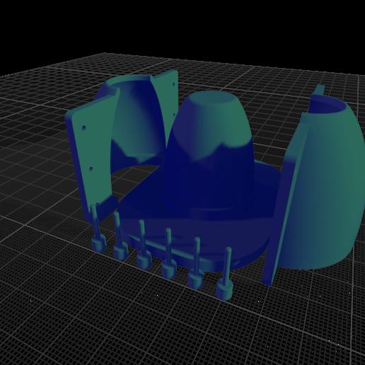 Télécharger fichier STL Moule à pot en béton • Plan imprimable en 3D, Pipes32
