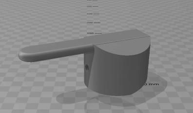 robinet_1.png Télécharger fichier STL gratuit Poignée du robinet de mélange • Modèle à imprimer en 3D, petrichormarauder