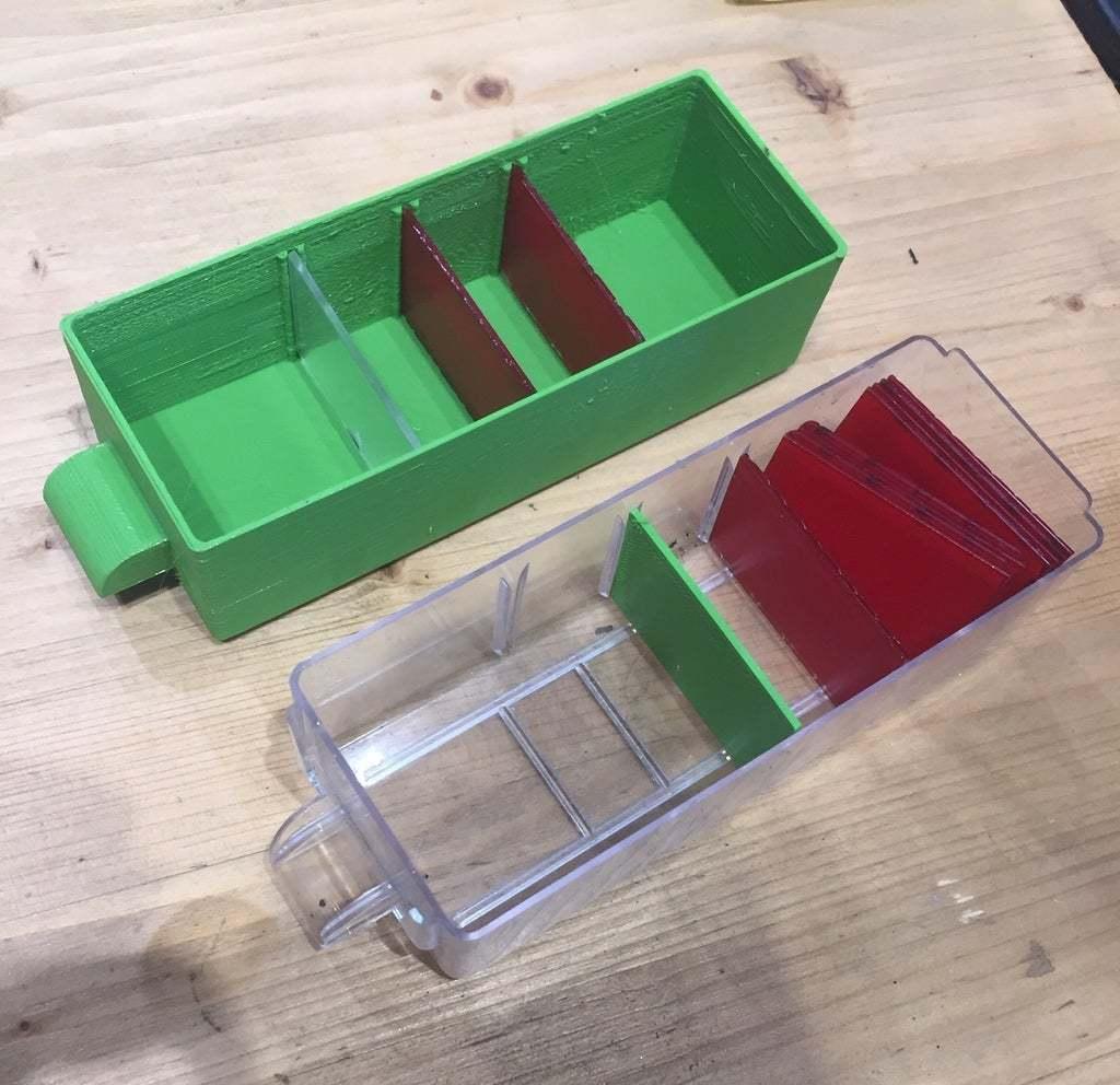 IMG_2239.jpg Télécharger fichier STL gratuit Boîtier de tiroir et entretoises pour l'organiseur • Objet imprimable en 3D, petrichormarauder