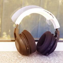 try4.jpg Download STL file Headset headband compatible with Razer ManO'War • 3D print design, DeerModeler