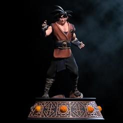 6.jpg Download STL file Goku - Fanart Statue • 3D printer model, NachoCG