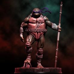 1.jpg Télécharger fichier STL Fanart TMNT Donatello Statue triomphante • Modèle imprimable en 3D, NachoCG
