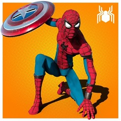spiderman portada.jpg Download 3MF file Spiderman - Civil War Movie Statue • Object to 3D print, NachoCG