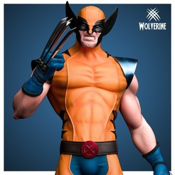 4.jpg Download 3MF file Wolverine / Logan - Statue 3D print model • 3D printable model, NachoCG