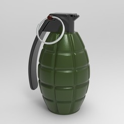 untitled.197.jpg Download free STL file MK II Hand Grenade • 3D printing design, aminebouabid