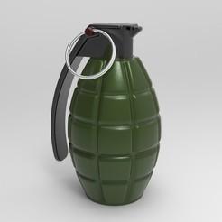 untitled.197.jpg Télécharger fichier STL gratuit Grenade à main MK II • Plan pour impression 3D, aminebouabid