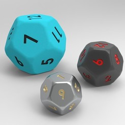 untitled.164.jpg Download free STL file 12 Sided Dice (Dodecahedron) • Template to 3D print, aminebouabid