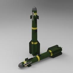 Télécharger fichier STL gratuit AGM-119 Hellfire • Plan pour impression 3D, aminebouabid