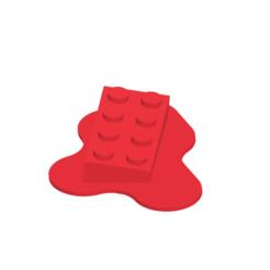 Melted_Lego_1.png Télécharger fichier STL Lego fondu • Modèle à imprimer en 3D, Makes_World_3D