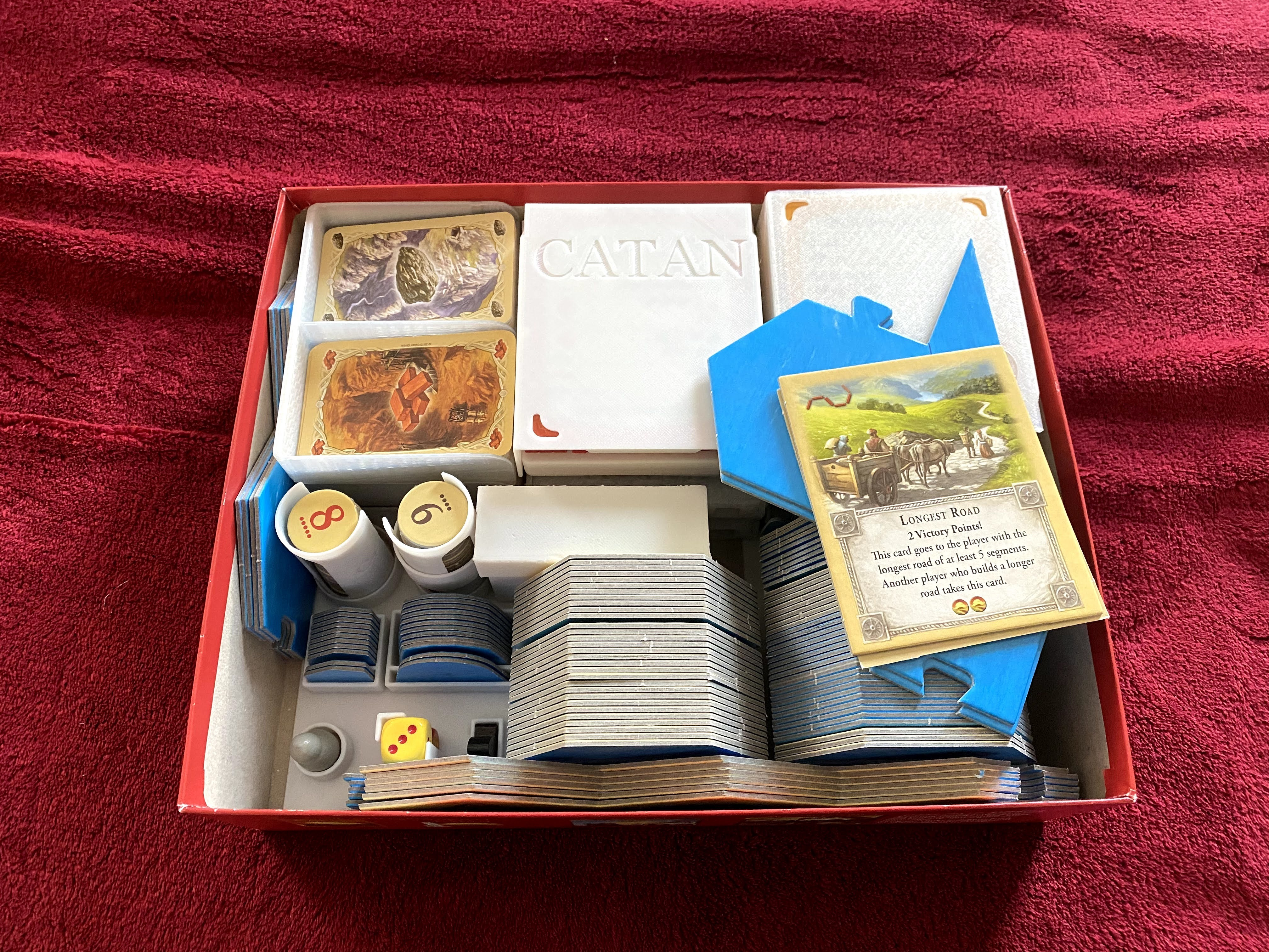IMG_9627.jpg Download STL file Catan Organizer Insert for the Base Game, Seafarers, and Both 5-6 Player Extensions • 3D printer template, theneedfull