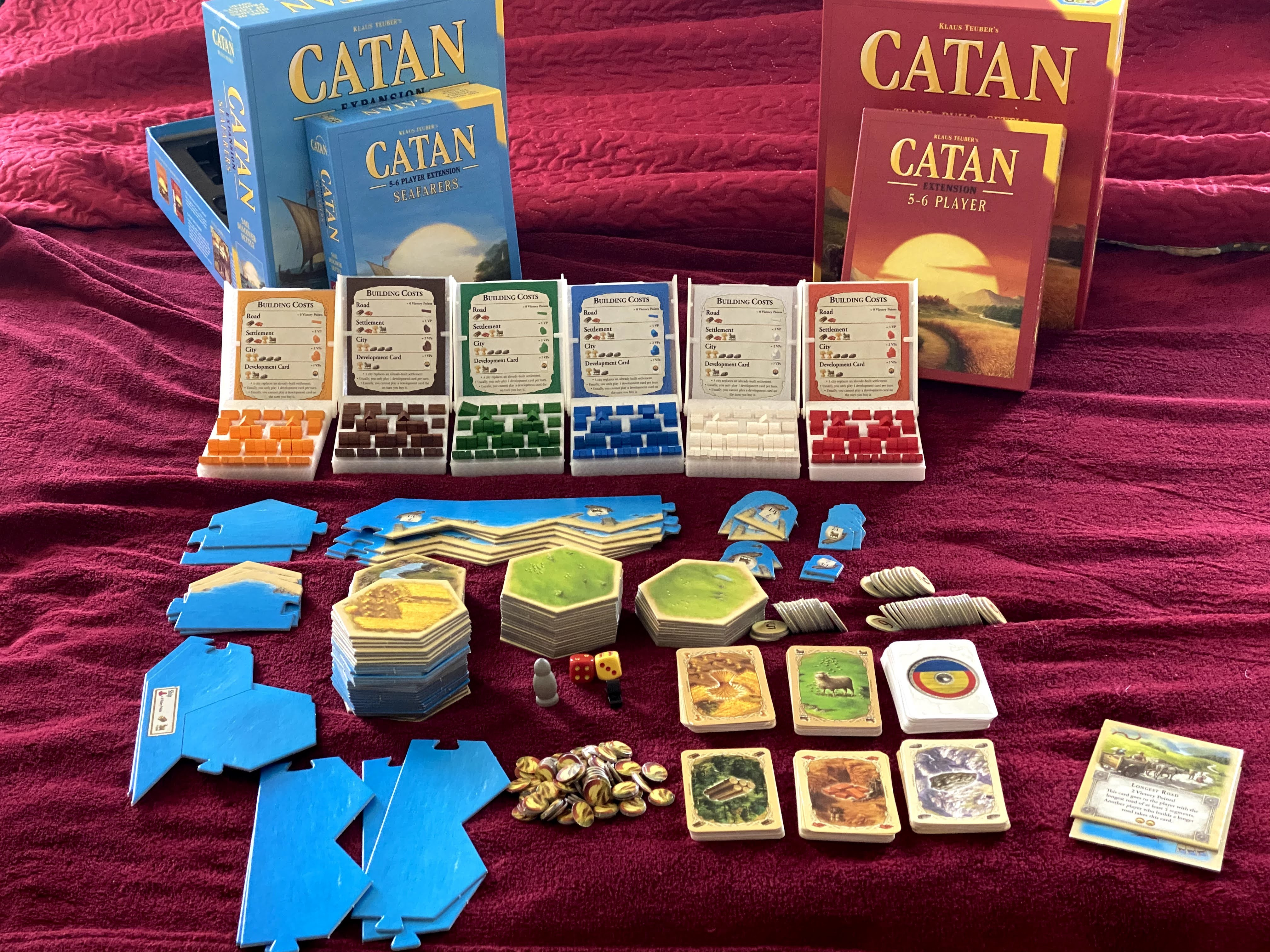 IMG_9622.jpg Download STL file Catan Organizer Insert for the Base Game, Seafarers, and Both 5-6 Player Extensions • 3D printer template, theneedfull