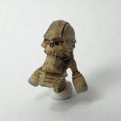 ZombieRobotHead_Ptohot.jpg Télécharger fichier STL Remplacement du crâne d'un robot zombie • Objet pour imprimante 3D, The5_1