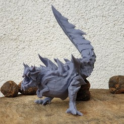 Glavenus.jpg Download free STL file Glavenus - Sword Tailed Dragon • 3D print object, The5_1