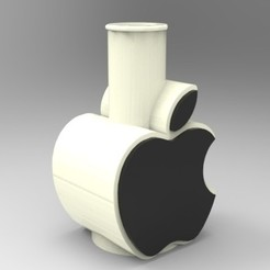 "render 01.jpg Download STL file CACHIMBA / SHISHA ""Apple"" Mouthpiece • Model to 3D print, 3Dreams_"