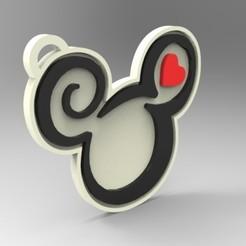 render 01.jpg Télécharger fichier STL Porte-clés Mickey Mouse - Disney • Plan pour imprimante 3D, 3Dreams_