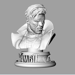 gambit bust.jpg Download free STL file Gambit Bust • 3D printing model, lamascarafeliztienda