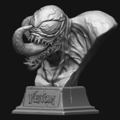 venom-bust-marvel-3d-model-stl.jpg Download free STL file Venom Bust • 3D printable model, lamascarafeliztienda