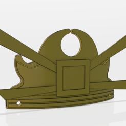 kyoshi.PNG Download free OBJ file Kyoshi warrior crown (Avatar) • 3D printing model, RDStudio