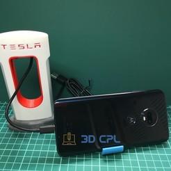 Tesla SuperCharger Phone Charger-4.jpg Télécharger fichier STL gratuit Téléphone Tesla SuperCharger pour USB-C • Design imprimable en 3D, 3dcpl