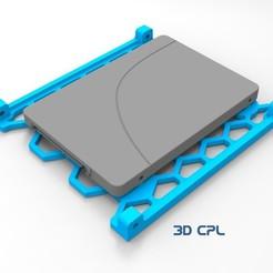 untitled.23.jpg Télécharger fichier STL gratuit Adaptateur SSD 2.5 à 3.5 / Adaptador SSD 2.5 a 3.5 • Plan pour impression 3D, 3dcpl