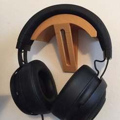 Photo_Mar_20_4_04_56_PM.jpg Download free STL file Razer Kraken Headphone Wallmount • 3D printing design, pyrohmstr