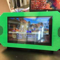 """Photo_Sep_19_10_12_40_AM.jpg Download free STL file 7"""" Raspberry Pi Standalone Console • 3D printing template, pyrohmstr"""