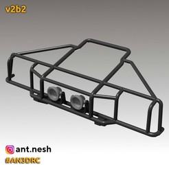 v2b2.jpg Download STL file Bull bar v2b2 by [AN3DRC] • 3D printer design, AntNesh