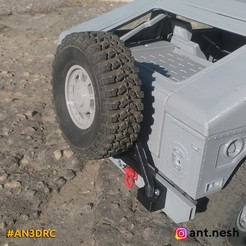 1.jpg Download STL file Spare tire carrier for 3d printed Hummer by [AN3DRC] • 3D print object, AntNesh