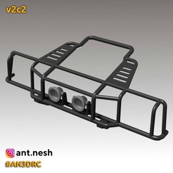 v2c2.jpg Download STL file Bull bar v2c2 by [AN3DRC] • 3D printing design, AntNesh
