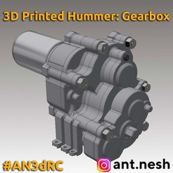 Promo.jpg Download STL file 3D Printed Hummer H1 Gearbox by [AN3DRC] • 3D printer design, AntNesh
