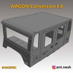 wagon-kit.jpg Télécharger fichier STL Kit de conversion WAGON par [AN3DRC] • Plan pour imprimante 3D, AntNesh