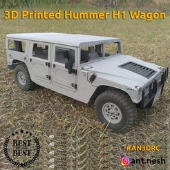 wagon-preview.jpg Télécharger fichier STL 3D PRINTED HUMMER H1 WAGON BODY BY [AN3DRC] • Objet pour impression 3D, AntNesh