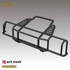 v2c1.jpg Download STL file Bull bar v2c1 by [AN3DRC] • 3D printer design, AntNesh