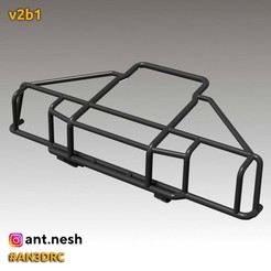 v2b1.jpg Download STL file Bull bar v2b1 by [AN3DRC] • 3D print design, AntNesh