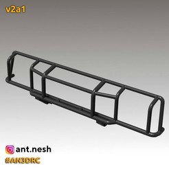 v2a1.jpg Download STL file Bull bar v2a1 by [AN3DRC] • Model to 3D print, AntNesh