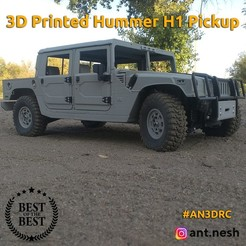 preview_cults.jpg Download STL file 3D PRINTED HUMMER H1 PICKUP body BY [AN3DRC] • 3D print model, AntNesh