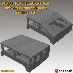 w-s-6x6-preview.jpg Télécharger fichier STL Kit de conversion Wagon / Slantback 6x6 (minimum) par [AN3DRC] • Objet pour impression 3D, AntNesh