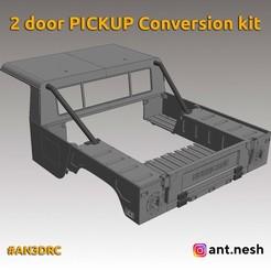 2-door-pickup-kit.jpg Download STL file 2 DOOR PICKUP CONVERSION KIT BY [AN3DRC] • 3D printer design, AntNesh