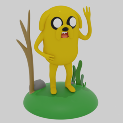 jake2.png Download STL file Jake Adventure Time • Model to 3D print, nicolaslavecchia