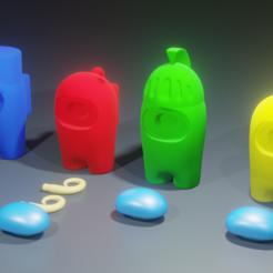 Render2.png Télécharger fichier STL Among Us Pack v2.0 • Objet à imprimer en 3D, PLDesign