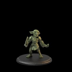 Goblin 2Swords 02.105.1.jpg Download STL file Goblin Soldier Two Swords Presupported • 3D printing model, TytanTroll_Miniatures
