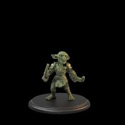 Goblin 2Swords 02.105.1.jpg Télécharger fichier STL Soldat gobelin : deux épées soutenues • Modèle imprimable en 3D, TytanTroll_Miniatures