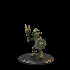Goblin axe 001.55.4.jpg Download STL file Goblin Axeman Presupported • 3D printing model, TytanTroll_Miniatures