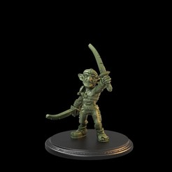 Goblin Raised 2 Swords 01.56.1.jpg Download STL file Goblin with two swords raised Pre-Supported • 3D print design, TytanTroll_Miniatures