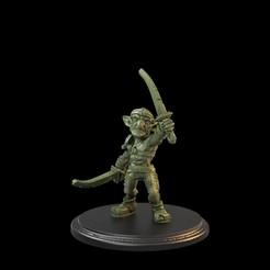 Goblin Raised 2 Swords 01.56.1.jpg Descargar archivo STL Duende con dos espadas levantadas Pre-Apoyado • Modelo para la impresión en 3D, TytanTroll_Miniatures