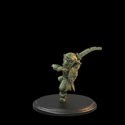 Leaping OneSword.57.5.jpg Download STL file Goblin Soldier Two Swords Presupported • 3D printing model, TytanTroll_Miniatures