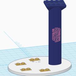 Base con logo.png Télécharger fichier STL Les navires de guerre Stand Star Wars en Lego avec des miniatures • Design imprimable en 3D, marrey16